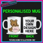 HAPPY ANNIVERSARY MUG PERSONALISED GIFT ADD PICTURE / WRITING